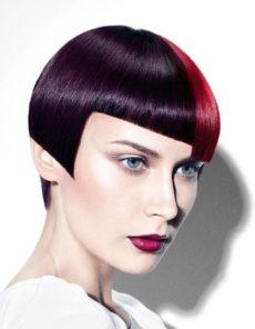 Coupe de cheveux femme géométrique